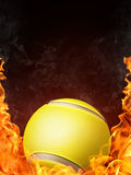 Tennis Ball. On Fire. 2D Graphics. Computer Design Royalty Free Stock Photo