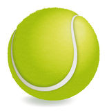 Tennis ball. Happy tennis ball. Textured surface and edges Stock Photos