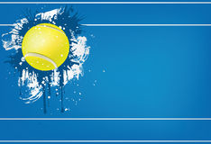 Tennis ball. On Blue background. Vector. Computer Graphic Royalty Free Stock Photo