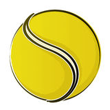 Tennis Ball 2. Vector Drawing Royalty Free Illustration