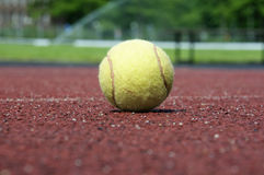 Tennis ball. Close up of an tennis ball, shallow depth of field Royalty Free Stock Image