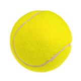 Tennis ball. Single tennis ball isolated on white background Stock Photography