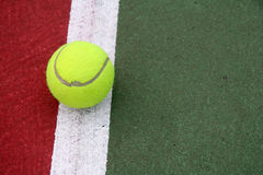 Tennis Ball. On the Line royalty free stock images