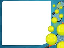 Tennis ball. Illustration of a falling tennis balls Royalty Free Stock Images