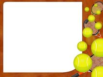 Tennis ball. Illustration of a falling tennis balls Royalty Free Stock Photo