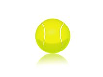 Tennis ball. Illustration of an isolated tennis ball Royalty Free Stock Photo