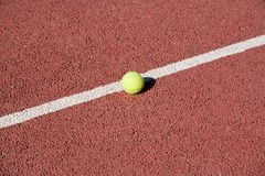 Tennis ball. On court stock photography