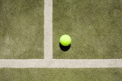 Tennis ball. And white lines Stock Images