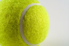 Tennis Ball. Close up of a tennis ball Royalty Free Stock Photo