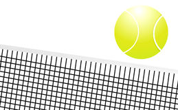 Tennis ball. Gross the net Royalty Free Stock Image