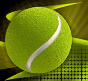Tennis ball on abstract background Royalty Free Stock Photos