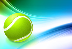 Tennis Ball on Abstract Color Background Royalty Free Stock Photography