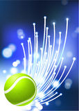 Tennis Ball on Abstract Internet Background Royalty Free Stock Photo
