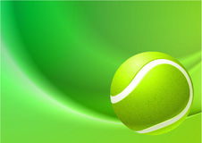 Tennis Ball on Abstract Internet Background Stock Image