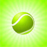 Tennis Ball on Abstract Internet Background Stock Photography