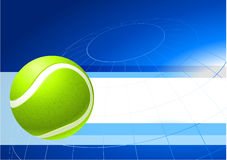 Tennis Ball on Abstract Internet Background Stock Photos