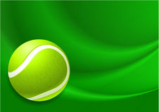 Tennis Ball on Abstract Internet Background Royalty Free Stock Photography