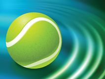 Tennis Ball on Abstract Liquid Wave Background Royalty Free Stock Photo