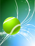 Tennis Ball on Abstract Modern Light Background Stock Images