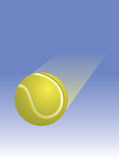 Tennis Ball Through the Air Stock Images