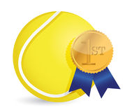 Tennis ball with award Stock Photo