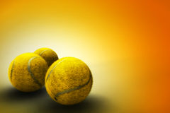 Tennis ball background. Still life with three tennis balls Royalty Free Stock Images