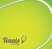 Tennis ball background. Tennis ball  over green background vector illustration Stock Images