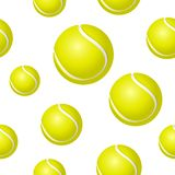Tennis ball background. Seamless background design with ball Stock Images