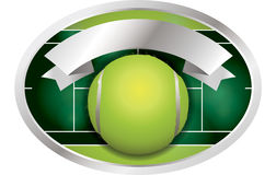 Tennis Ball Banner Illustration Stock Images
