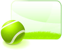 Tennis Ball with Blank Nature Frame Stock Image