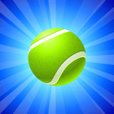 Tennis Ball on Blue Background Stock Photography