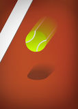 Tennis ball blurry Royalty Free Stock Photos