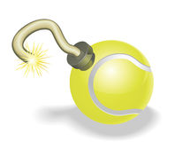 Tennis ball bomb concept Stock Photography