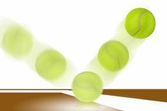 Tennis ball bounces. Royalty Free Stock Photos