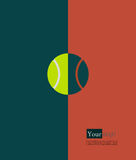 Tennis ball clay court Stock Image