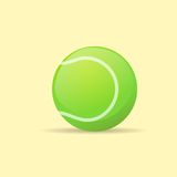 Tennis ball color flat icon vector Royalty Free Stock Images