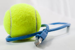 Tennis  ball connected. Image of a tennis ball connected Stock Photography