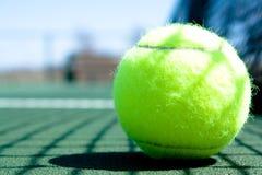 Tennis Ball on Court stock image