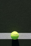 Tennis Ball on the Court Royalty Free Stock Images