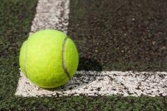 Tennis ball. On a tennis  court Stock Photos