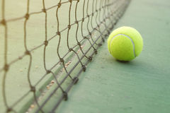 Tennis Ball on the Court. Tennis Ball on the tennis Court royalty free stock photography