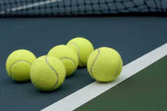 Tennis ball  on court  background Royalty Free Stock Image
