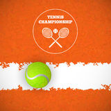 Tennis ball on court. Vector Royalty Free Stock Image