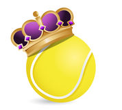 Tennis ball with a crown Royalty Free Stock Images