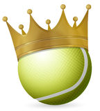 Tennis ball with crown Royalty Free Stock Photo