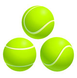 Tennis ball. From different angles.  on white background Stock Photos
