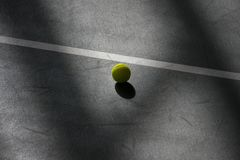 Tennis ball on a field . Individual sport.  royalty free stock images
