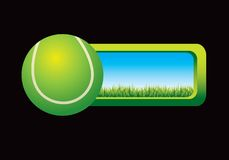 Tennis ball graphic with window to outside Stock Photos