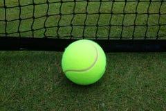 Tennis ball on grass tennis court. Tennis ball on grass  tennis court stock image