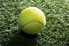 Tennis ball on grass court. Stock Photography